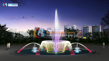 LED Colorful Dia.14m Dancing Water Fountain