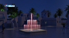 1.4*1.4m Small Portable Music Dancing Fountain