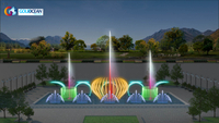 20*10m Pool Music Dancing Fountain