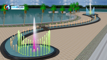 80*2m Running and Dancing Water Fountain