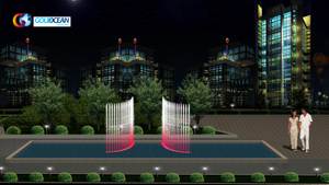 FREE DESIGN Outdoor Decorative Portable Movable Music Dancing Fountain Show