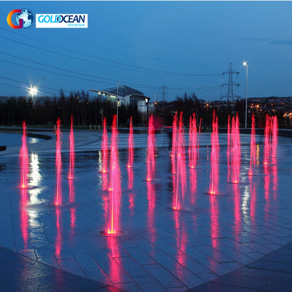 Colorful Lights Rectangular Shape Dry Fountain