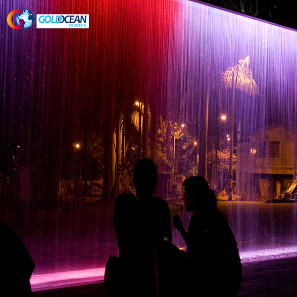 Outdoor Digital Water Curtain with Projection