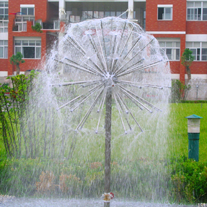 Crystal Ball Shape Dandelion Fountain 360 Spray Nozzle