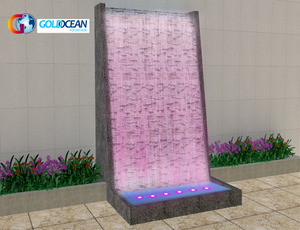 FREE DESIGN Outdoor Artificial Waterfall on rocks bridges for decoration