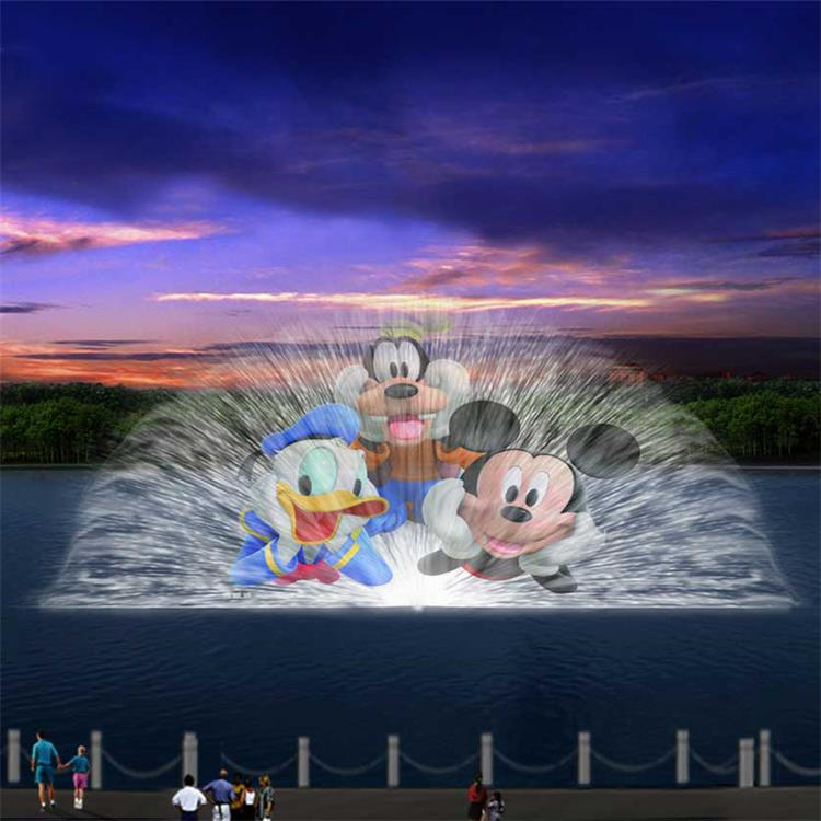 large water screen projection fountain movie screen digital water screen price for sale
