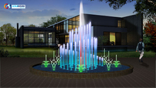 Outdoor Garden Lake Led Water Fountain Design