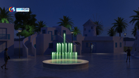 Dia.1.5m Portable Music Dancing Fountain