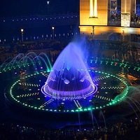 Professional supply colorful LED lights music dancing indoor water fountain