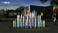 Outdoor Dia.3m Water Pond Music Fountain
