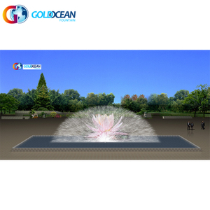 Lake Water Screen Movie Fountain with Large Laser Light Show China