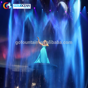Trade Assurance Digital Water Printer Curtain For Show