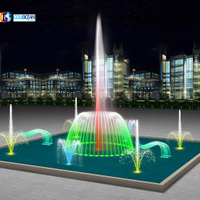 30x30m Rectangular Shape Music Fountain